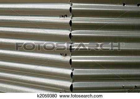 Stock Photography of corrugated sheet metal k2059380.