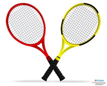 Photoshop Tennis Rackets Corrupted Development Clipart.