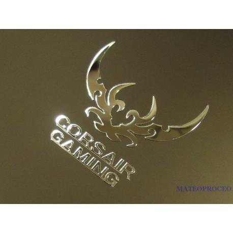 Corsair Gaming Label / Aufkleber / Sticker / Badge / Logo 30mm x 30mm [414].