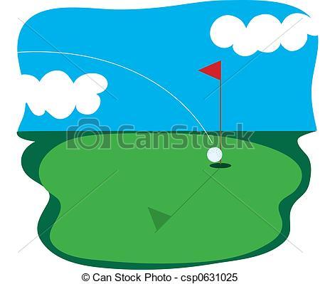 Clipart golf course.