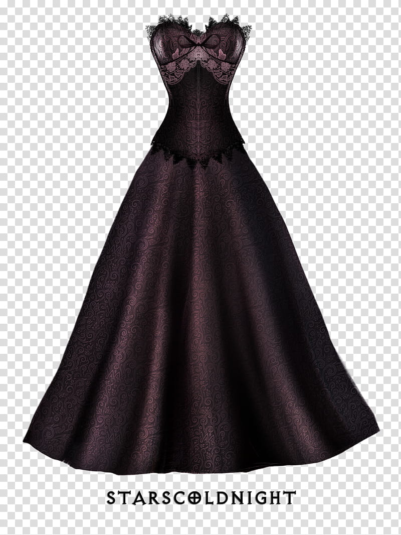 Dress and corset, women's brown sleeveless maxi dress with text.