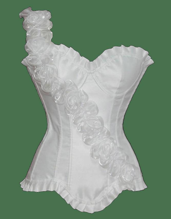 White corset transparent image.