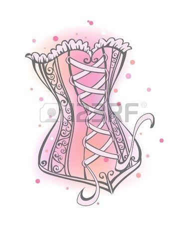 Lady corset.