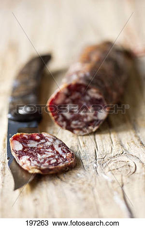 Stock Photo of Paul Marcaggi's AOC Corsican dried sausage 197263.