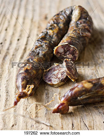 Stock Photo of Paul Marcaggi's AOC Corsican dried sausage 197262.