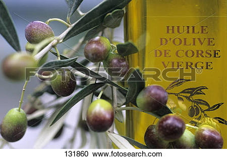 Stock Photography of Corsican olive oil 131860.