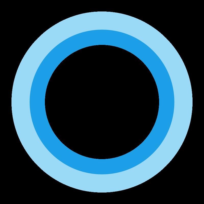 Microsoft Cortana vector logo (.eps + .svg) free download.