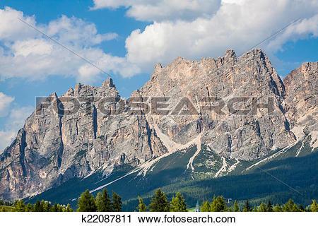 Stock Photography of Beautiful Dolomite mountains near Cortina D.