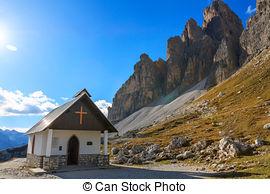 Stock Photography of Tre Cime di Lavaredo in Cortina d'Ampezzo.