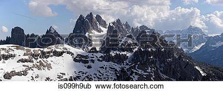 Stock Photography of Mountain scenery, Cortina d'Ampezzo, Italy.