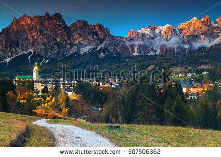 Cortina D Ampezzo Stock Photos, Royalty.