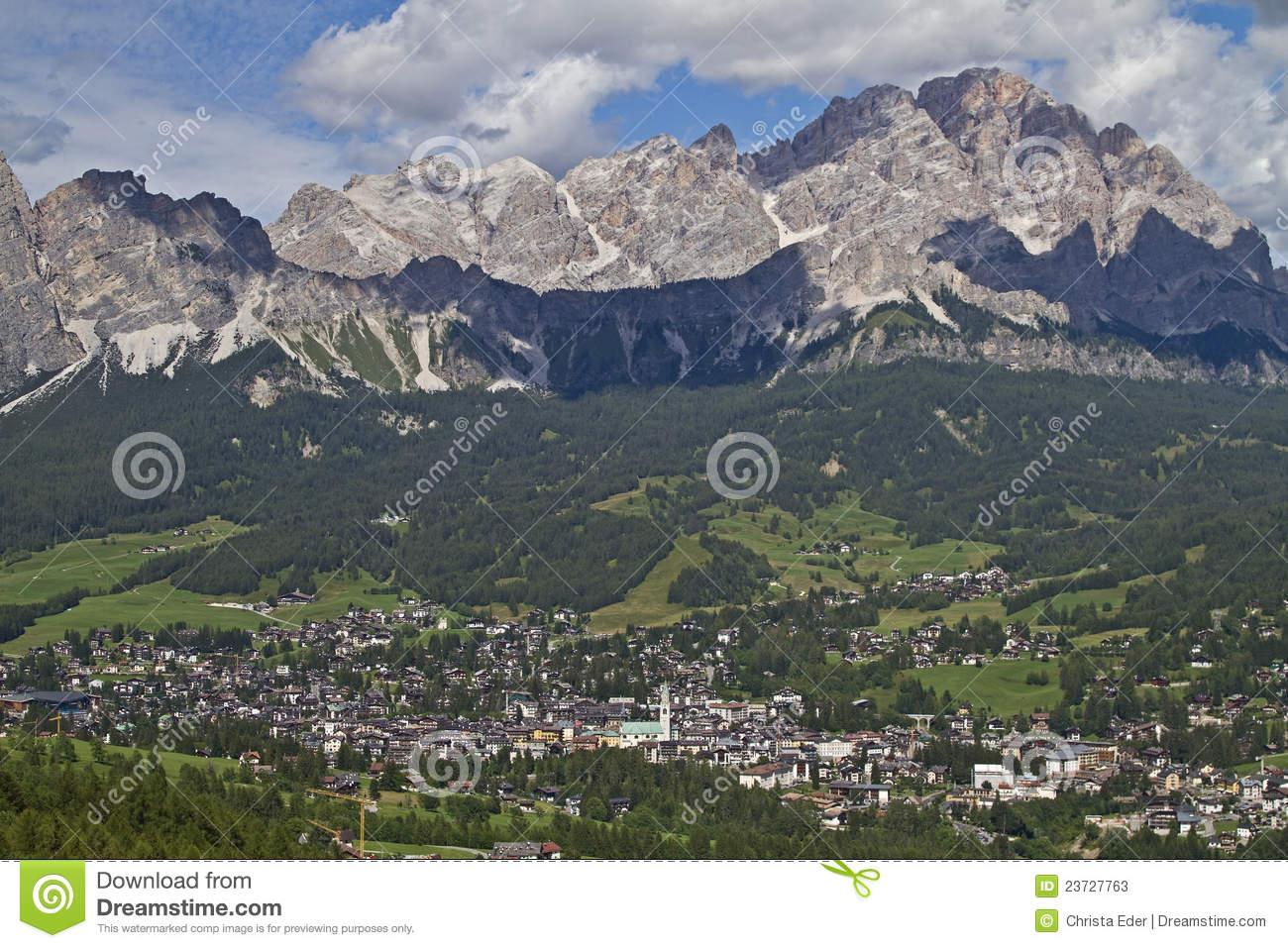Cortina D Ampezzo Stock Photos.