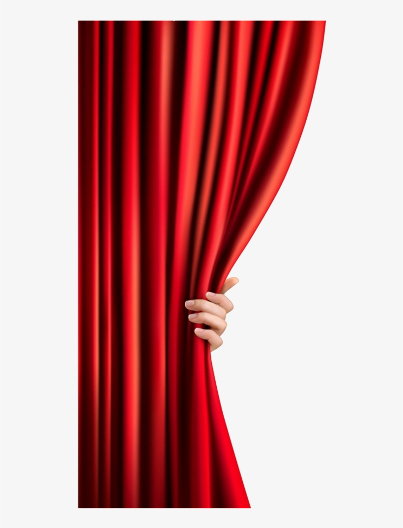 Female Hand Opening Curtain Png Image.