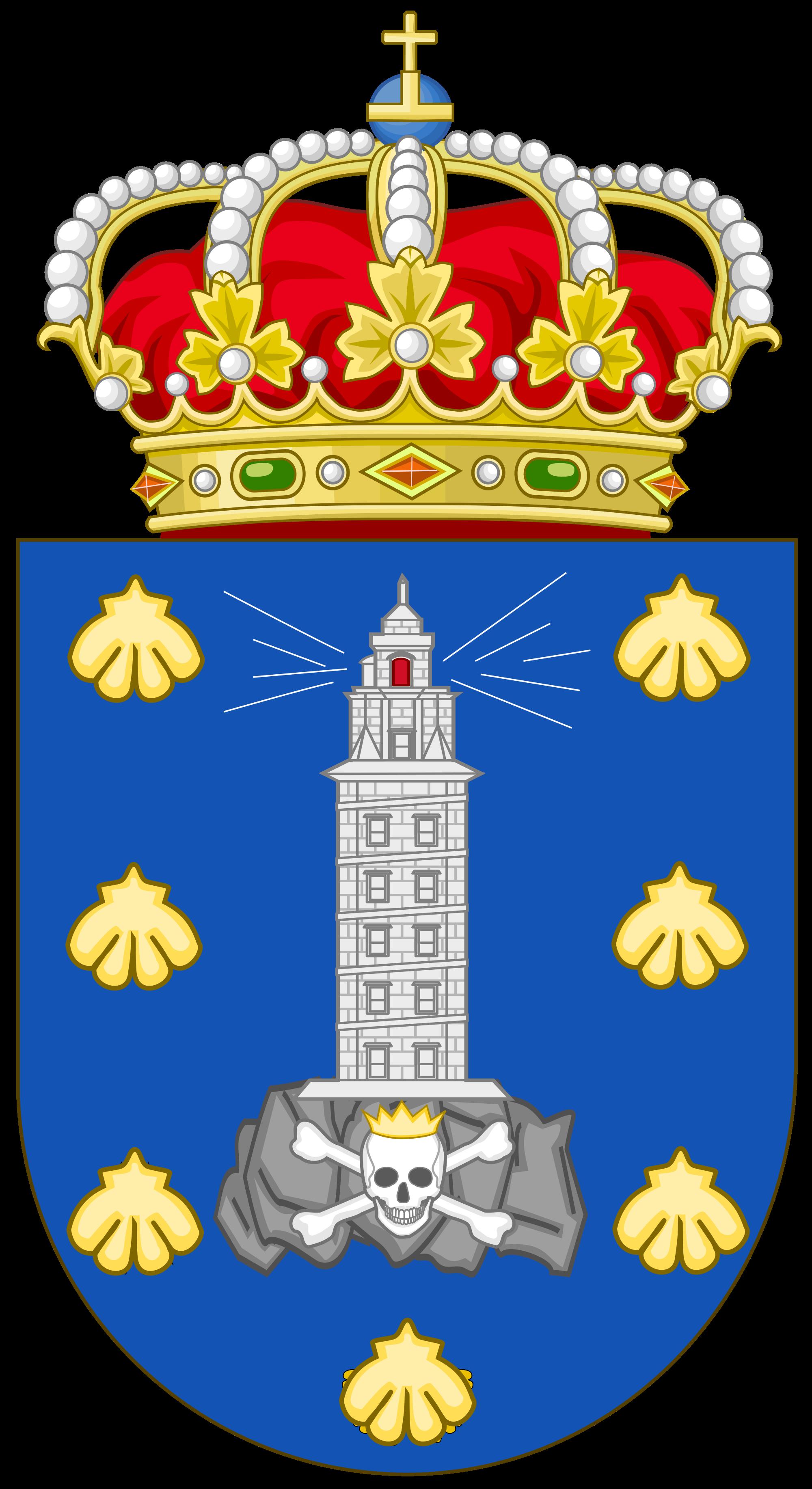 File:Coat of Arms of La Coruña.svg.
