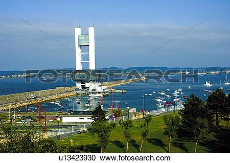 Stock Photography of Spain, Galicia, Coruña, A coruña, Sea, Ria.