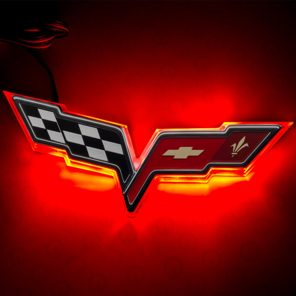 Chevy Corvette C6 Illuminated Emblem.
