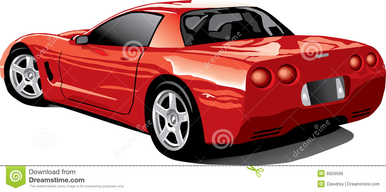 Corvette Stock Illustrations.