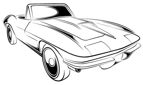 Corvette Z06 Drawing.