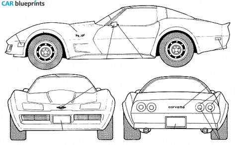 Corvette c3 clipart.