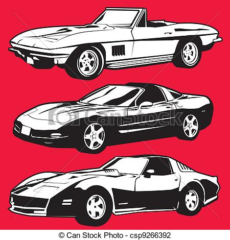 Corvette Vector Clipart Illustrations. 79 Corvette clip art vector.