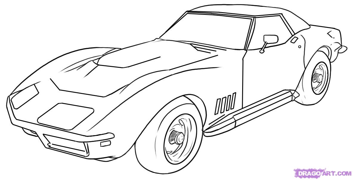 Corvette stingray clipart.
