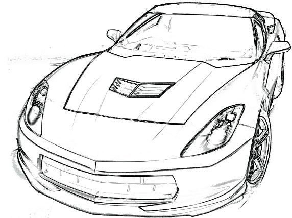 Corvette c7 z06 clipart.