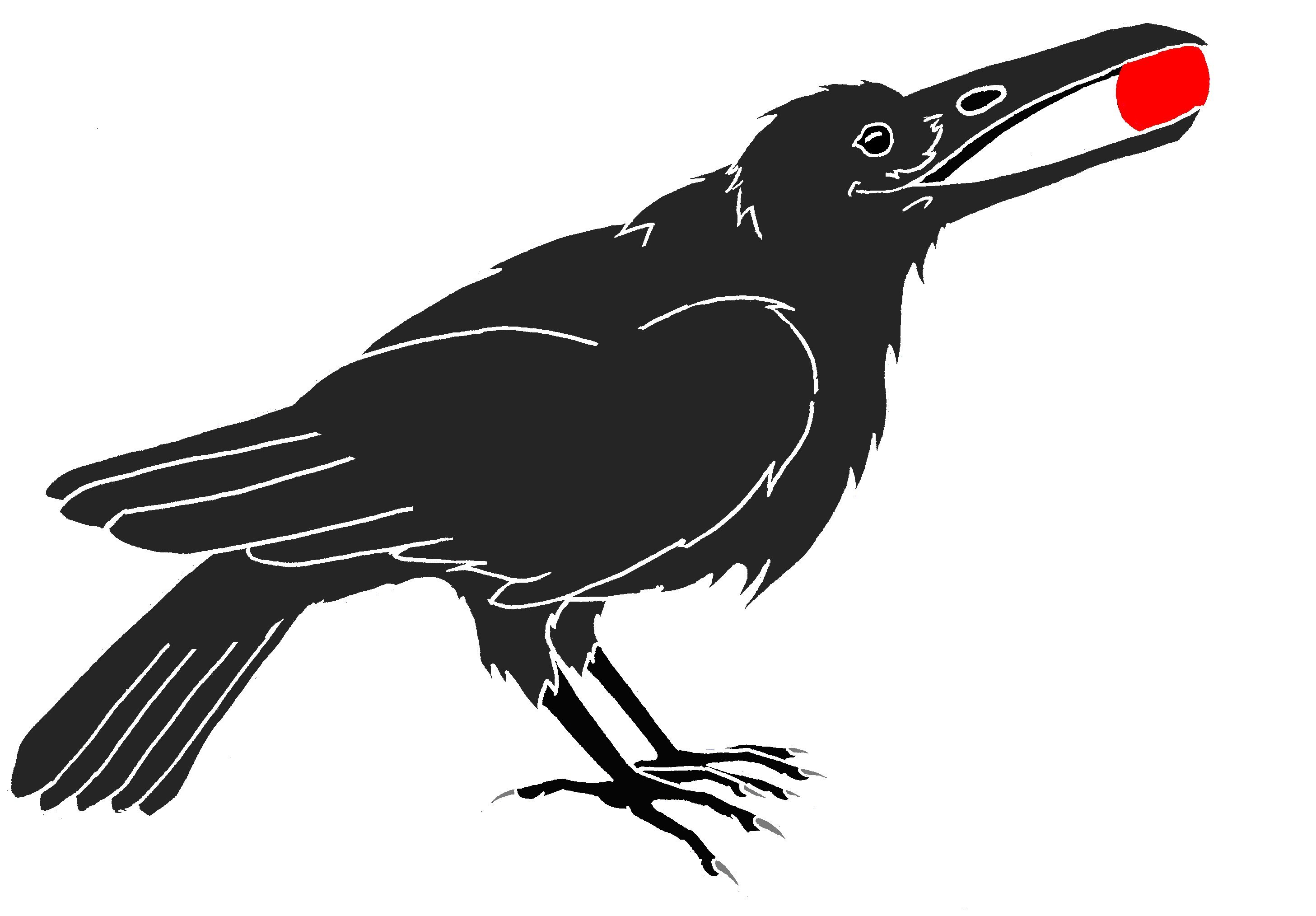 Crow clip art black and white free clipart images.