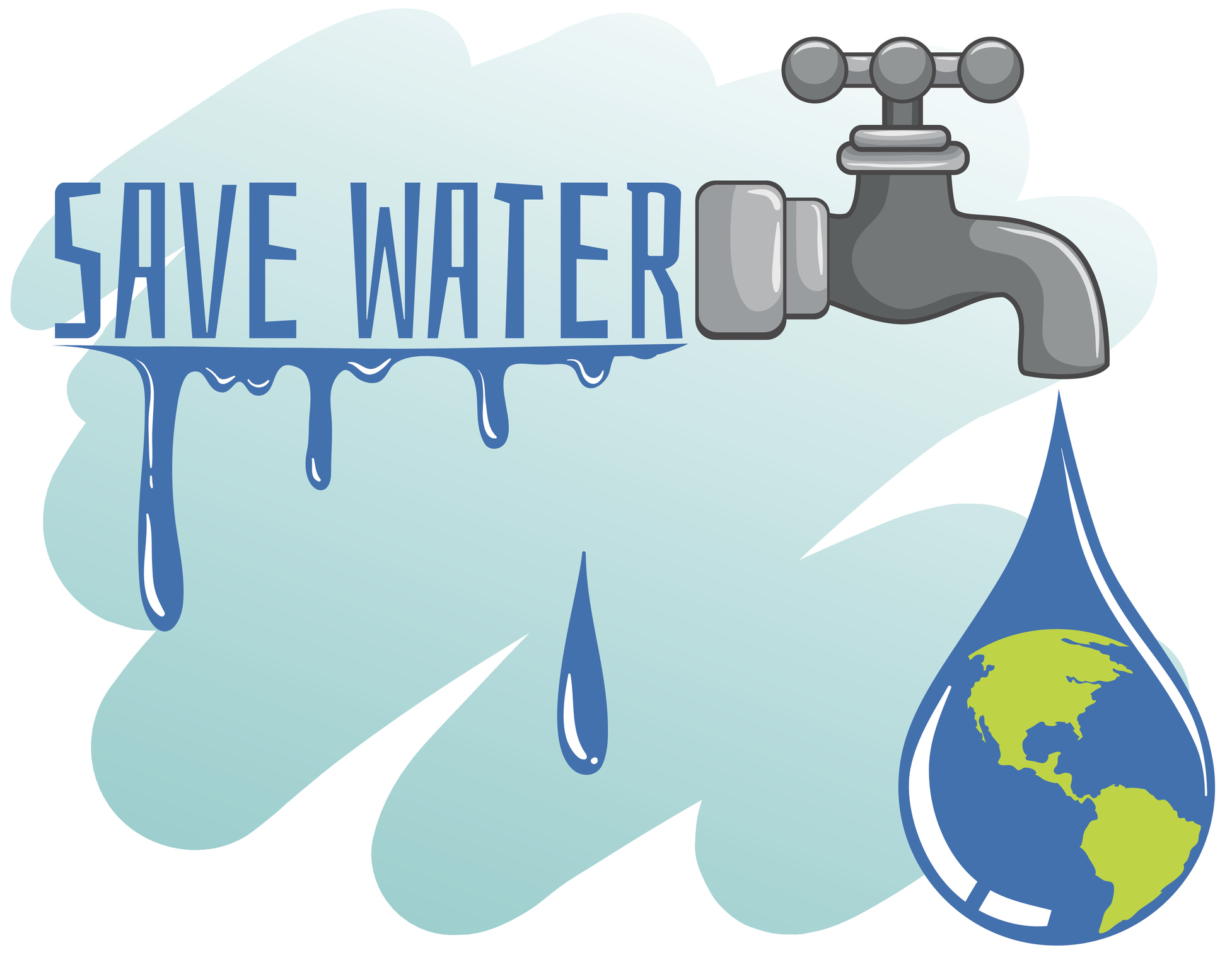 How To Save Water Clipart.