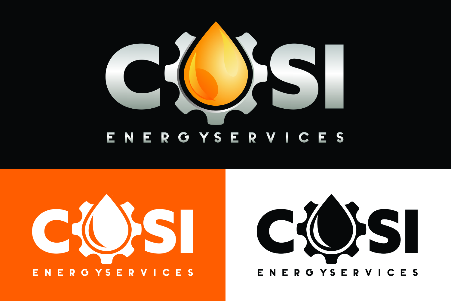 Bold, Masculine, Oil And Gas Logo Design for COSI Energy.