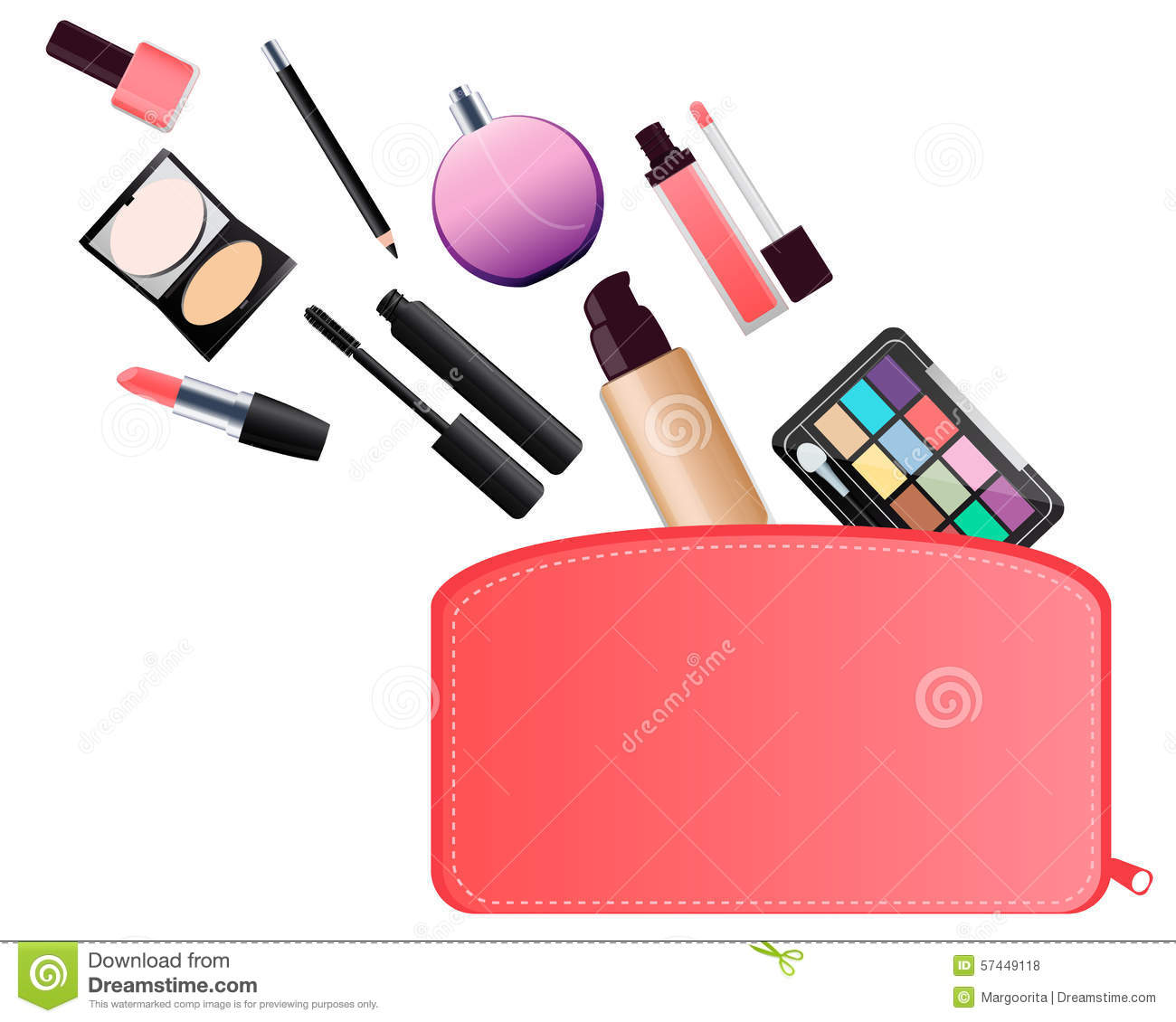 Makeup bag clipart.