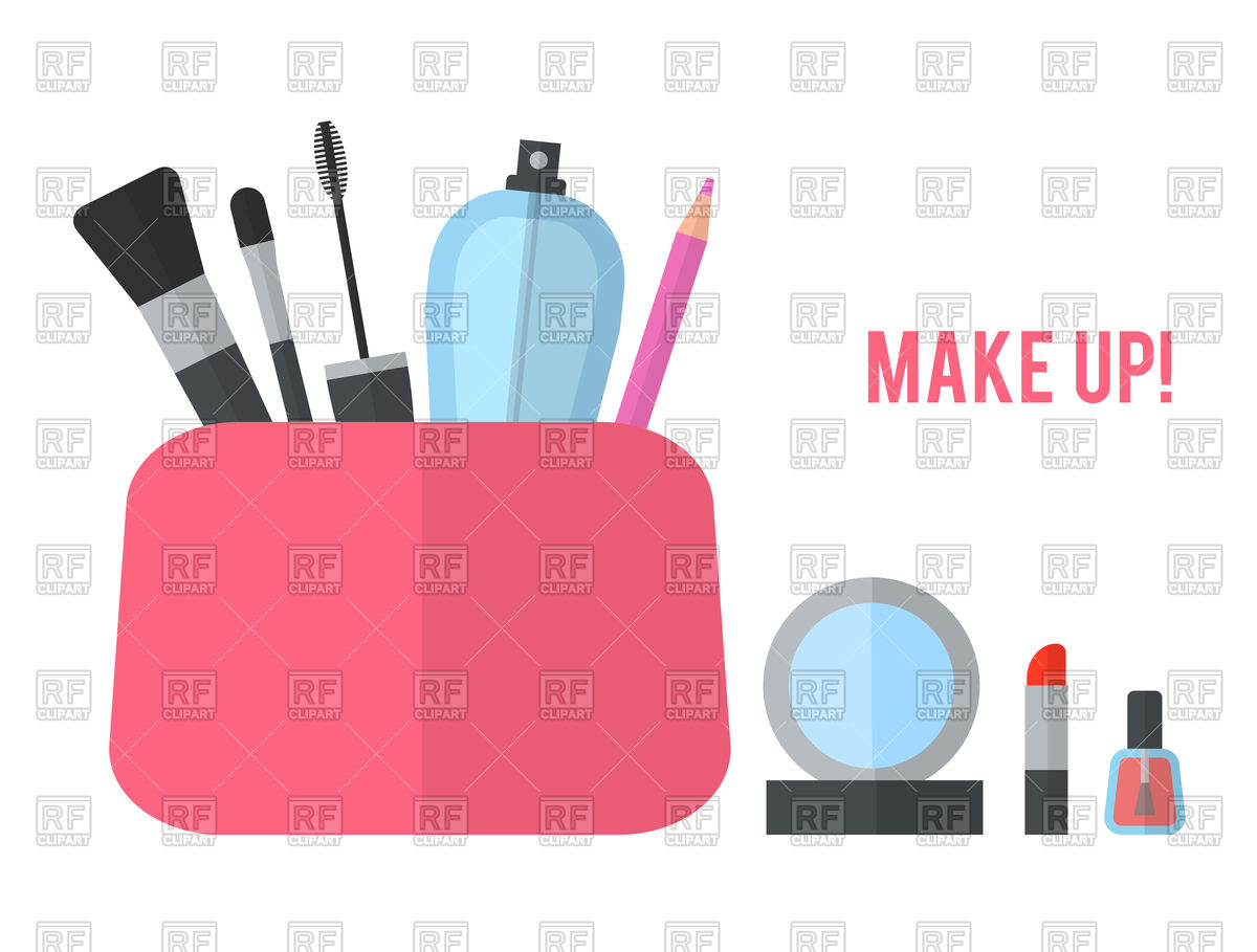 Make up cosmetic bag Vector Image #98165.