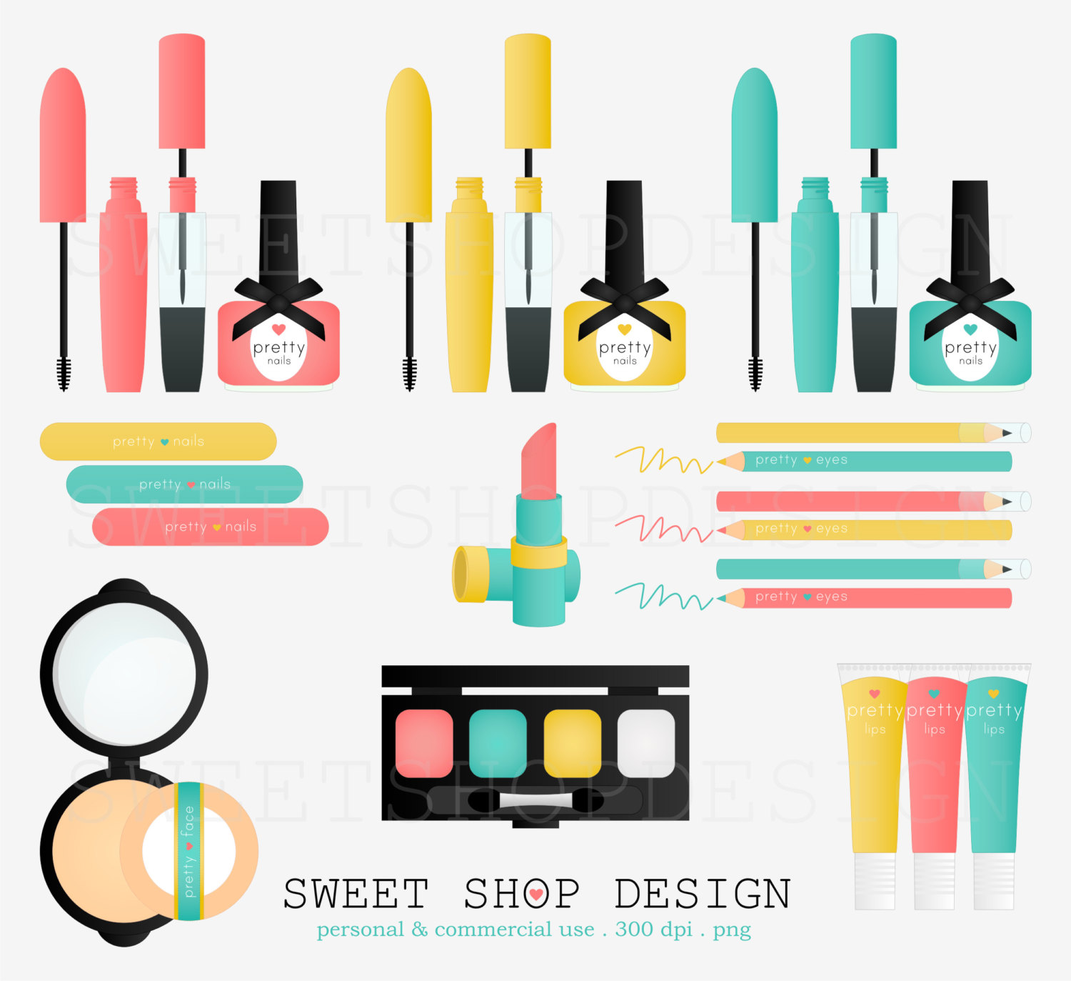 Makeup Cosmetics Clipart.