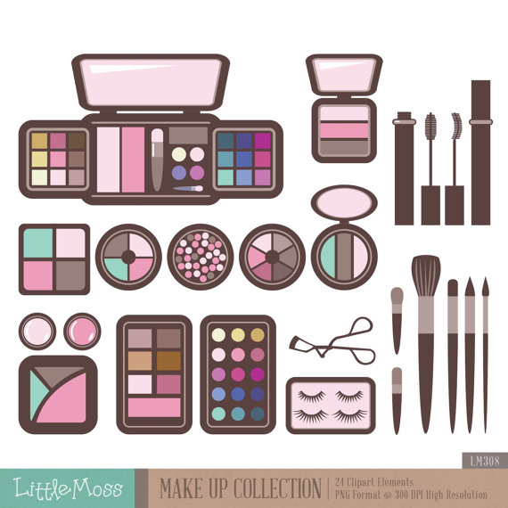 Make Up Digital Clipart Cosmetic Clipart.