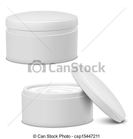 Vector Clip Art of Cream Jar.