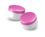 Cosmetic Cream In The Pink Jar Royalty Free Stock Photos.