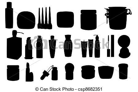 Vector Clip Art of Wide range of cosmetic jars csp8682351.