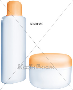 Stock Photo Bottle Jar Of Cosmetic Cream Clipart.