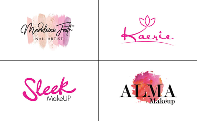 design cosmetic, makeup, beauty or salon logo.