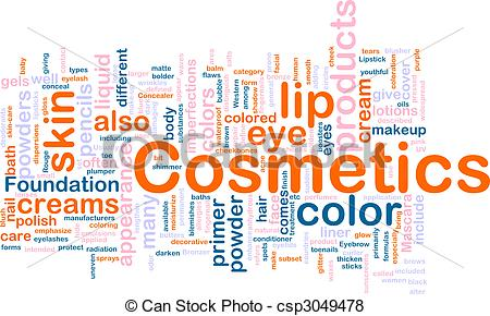 Stock Illustration of Cosmetics products background concept.