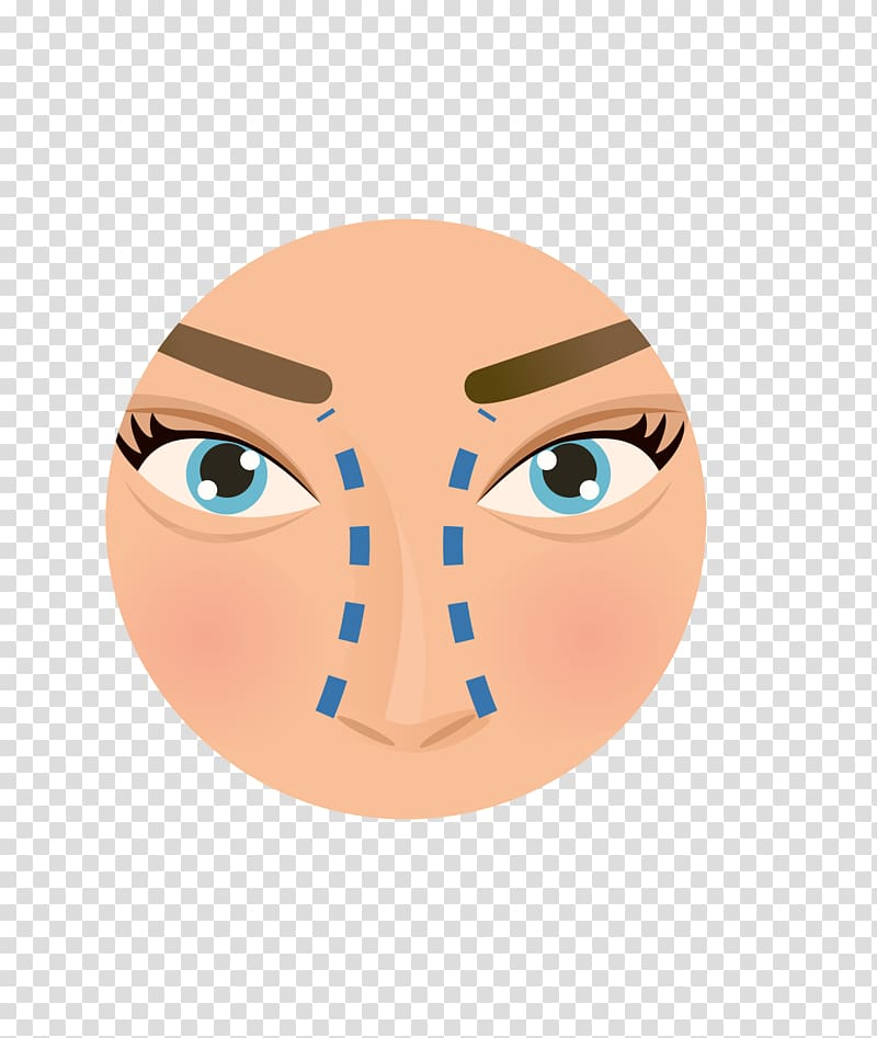Nose Plastic surgery Face Icon, Cosmetic hospital nose icon.