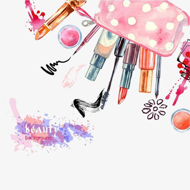Hand Made Cosmetic Make Up, Lipstick, Mascara, Cosmetics PNG.
