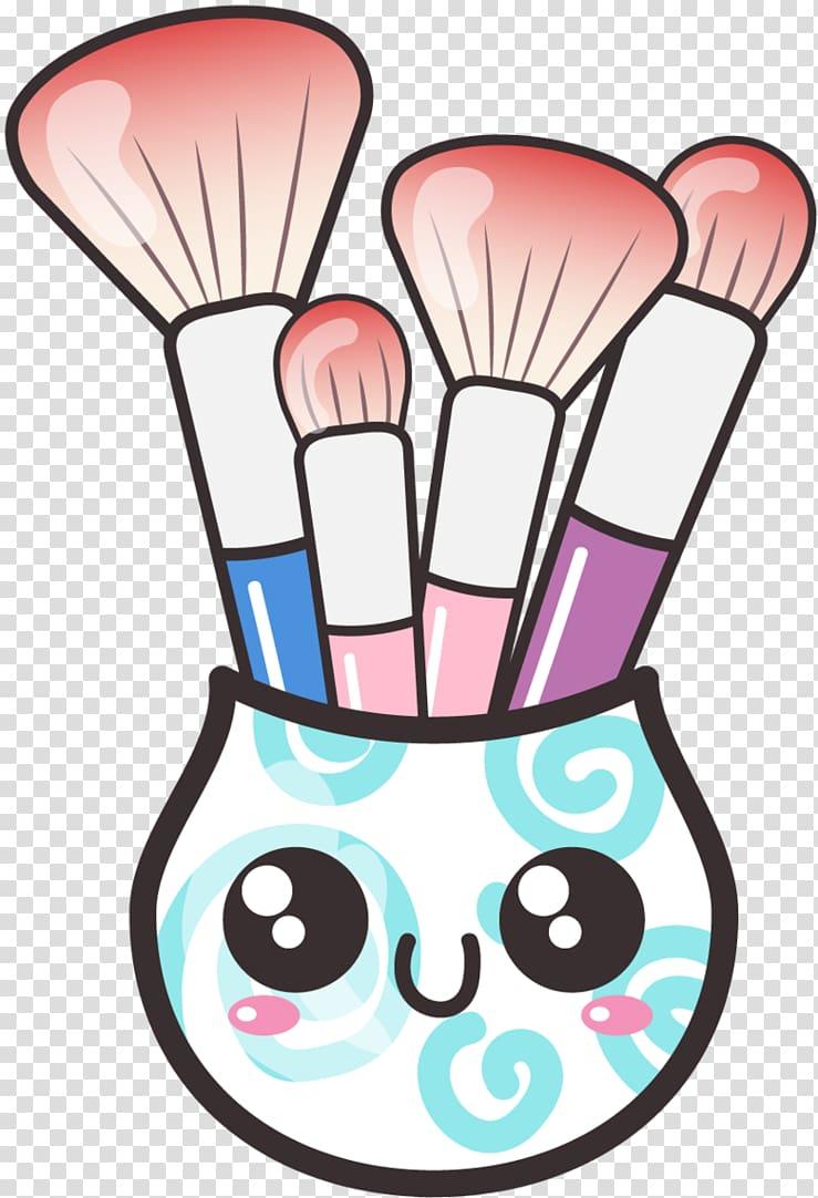 Makeup brush Cartoon Cosmetics , Brush transparent.