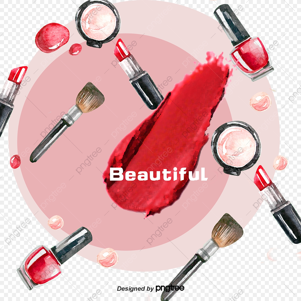 Cosmetics Background, Cosmetic, Creative Background, Pink PNG.