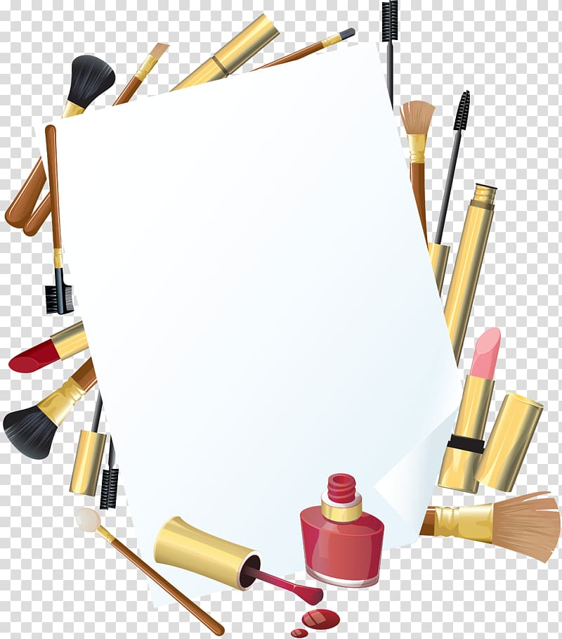 Cosmetics Makeup brush, COSMETIC transparent background PNG clipart.