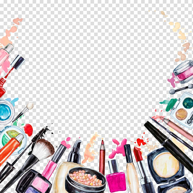 Cosmetics Beauty Lipstick Makeup brush Eye shadow, Creative Makeup.
