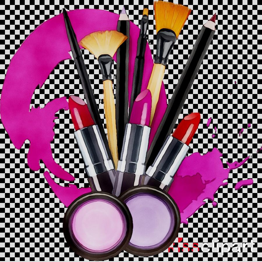 Makeup Brush clipart.