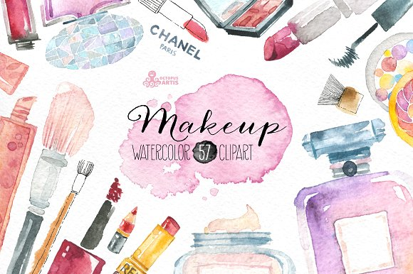 Makeup & Cosmetics clipart ~ Illustrations on Creative Market.
