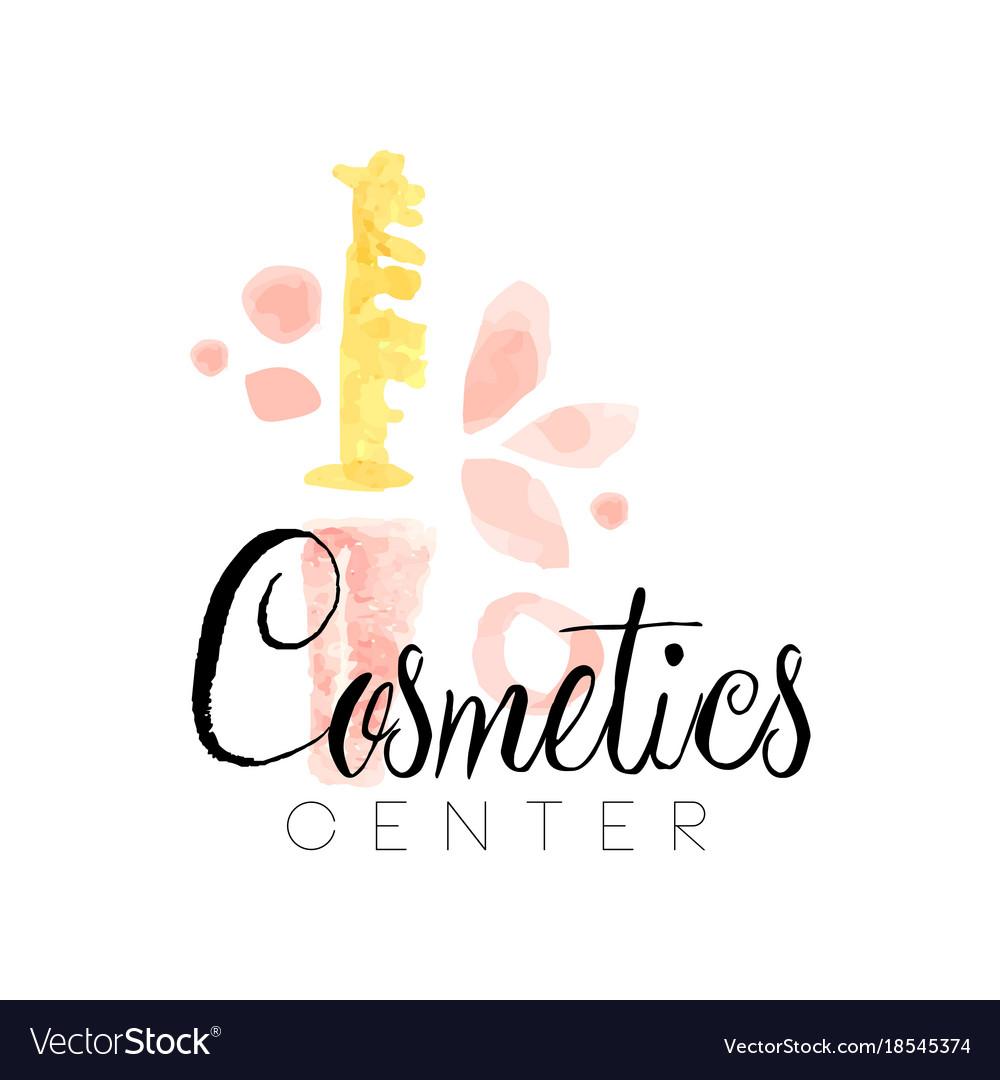 Delicate logo design for cosmetics shop or.