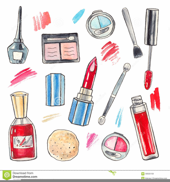 Beauty Products Clipart Free.