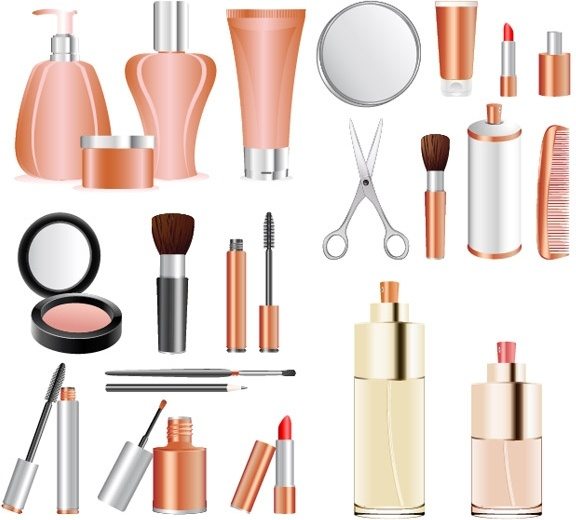 Makeup Products Clipart.